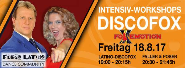 FoXemotion mit Intensiv-Workshop bei Fuego-Latino in Offenburg